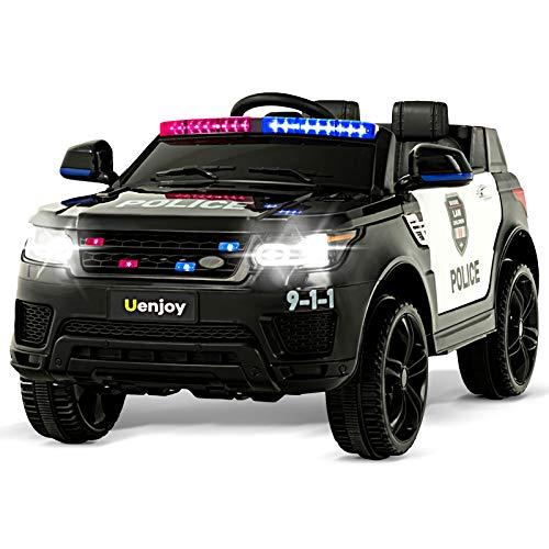 Uenjoy 12V Kids Police Ride On Car SUV...