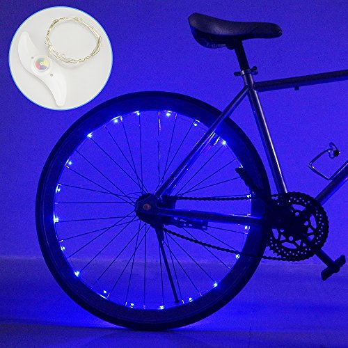 Tesoky Lights for Bike Spokes, Bicycle Lights for Night Riding Kids 2 Pack LED Lights for Bike Tires Gift for Boys Age 8