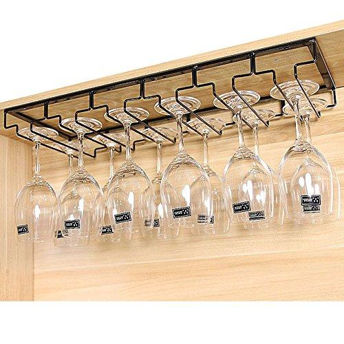 Homieco Gläserhalter Gläserschiene Weinglashalterung Edelstahl Champagner Cup Hangers Rack Halter mit Schrauben für Bar, Zuhause, Cafe