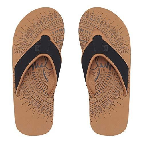 Animal Womens Swish Placement Flip Flops Black FM9SQ310 Womens Footwear Size - 4