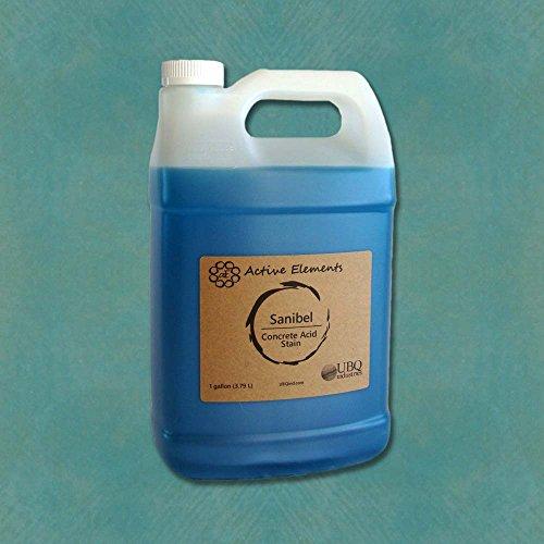 Concrete Acid Stain for Coloring Interior Concrete Sanibel (Light Blue Color) 1 Gallon