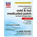 Rite Aid Cold & Hot Medicated Pain Relief Patches, Large - 5 Count | Sore Muscle Relief...