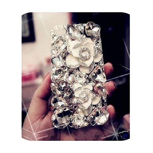 Cover per iPhone 11, con strass, 3D, con strass, cover posteriore rigida per Samsung Galaxy S5 6 7 Edge 8 Plus, Galaxy S10 Plus