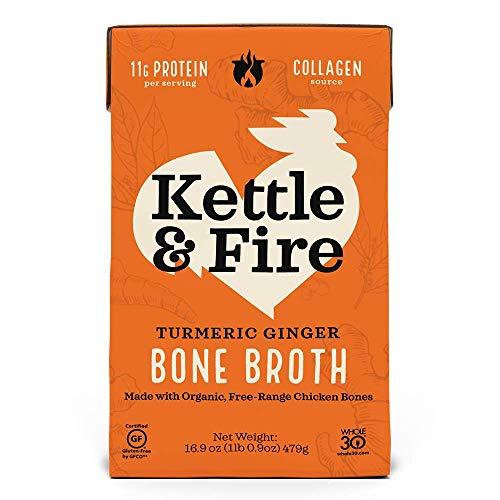 Kettle & Fire, Broth Bone Chicken Turmeric Ginger, 16.9 Ounce