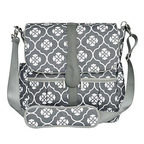 JJ Cole Backpack Diaper Bag, Gray Floret
