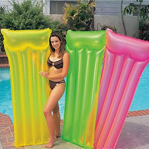 Hochwertiges Schwimmbett Aufblasbare Pool Schwimm Air Mat Raft Sommer-Strand-Wasserbett Spielzeug, Grün (Color : Green)