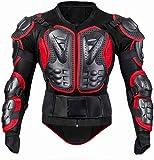 Motos Coraza Chaqueta de Protección para Motocross Armadura Cuerpo Armadura de Cuerpo Entero Spine Chest con Protección de Pecho y Espalda Para Motos Armadura de Manga Larga Red,L