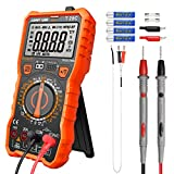 Manual-Ranging Digital Multimeter, 6000 Counts Electrical Tester AC/DC Voltage Current Detector, NCV, Resistance