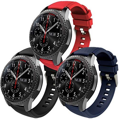 Th-some Correa para Samsung Gear S3 Frontier - Pulsera de Silicona para Galaxy Watch 46mm, Banda de Reloj de Silicona Suave Deportiva Pulsera de Repuesto para Galaxy Watch 46mm/ Gear S3/ Gear