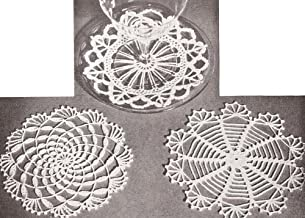 Vintage Crochet PATTERN to make - Mini Doily Snowflake Coasters Victorian Christmas Ornaments Decorations. NOT a finished item. This is a pattern and/or instructions to make the item only.