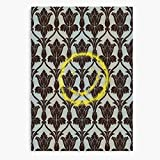 BBC Wall Smiley Sherlock Wallpaper 221B Canvas Wall Art Printed Modern to Decoration for Living Room, Bedroom, Kitchen, Office, Hotel, Dining Room, Office, Bathroom, Bar Etc
