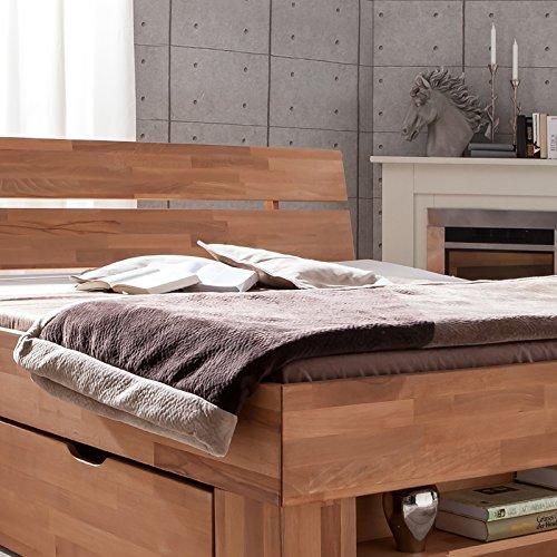 Futonbett SOFIE mit Bettkasten und Fußteilregal 140 x 200 cm - 4