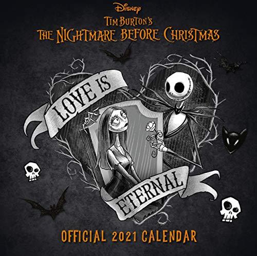 Nightmare Before Christmas 2021 Calendar - Official Square Wall Format Calendar