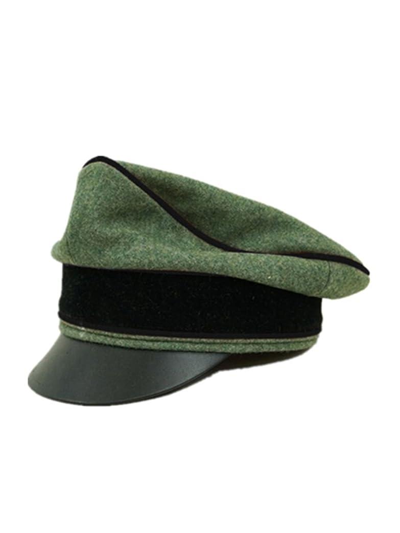 インデックス解決する劇作家第二次世界大戦 ドイツ軍 武装したエリート将校用クラッシュキャップ 工兵 ウール材料-60