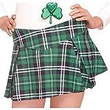 Amscan Plaid Mini Skirt, One Size, Green