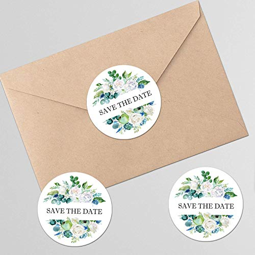 Save the date floral stickers for wedding day bride shower 120pcs/set