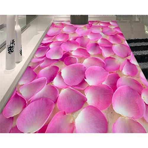 Papel pintado estético del suelo 3D del papel pintado de la baldosa 3D del pétalo de la pintura del suelo avanzada modificado para requisitos particulares 200x140cm