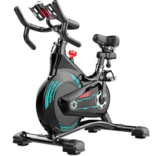 ATGTAOS Bicicleta de Ciclismo para Interiores, Estacionaria, Silenciosa, con Transmisión por Correa, para Ejercicios de Entrenamiento Cardiovascular y de Resistencia en Casa, Asiento Cómodo