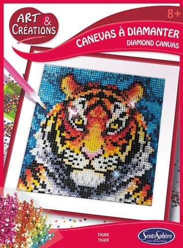 Sentosphere- Kit de Pintura de Diamante para Manualidades, diseño de Tigre, Ideal para niños y Adultos, Multicolor (2027)