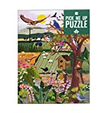 Talking Tables 1000 Piece English Countryside & British Birds Jigsaw Puzzle with Matching Poster & Trivia Sheet Colorful Illustrated Design, Birthday Present, Gifts for Gardeners, Wall Art