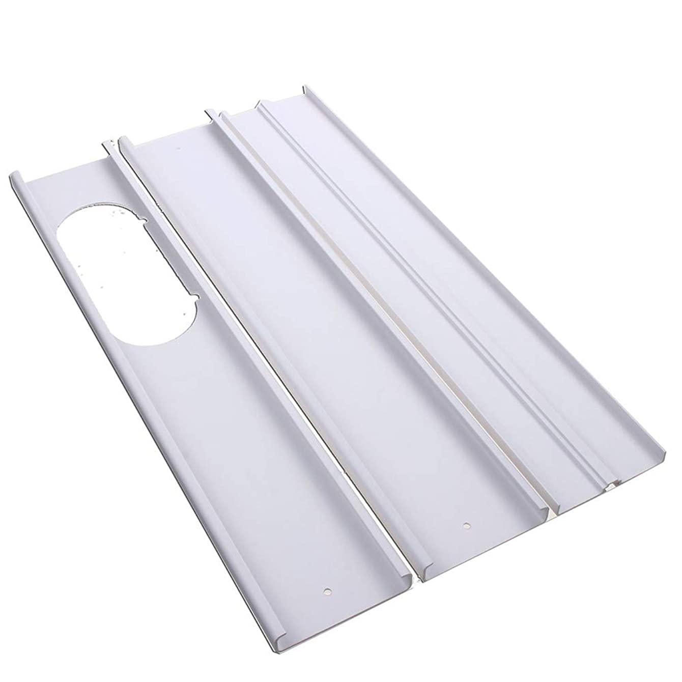 Farway 3PCS Adjustable Window Slide Kit Plate 55-165cm Air Conditioner Wind Shield for Portable Air Conditioner