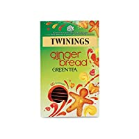 Twinings Gingerbread Indulgence Green Tea 40g - 20 Envelopes (Pack of 2) - 緑茶40g - 20封筒耽溺トワイニングのジンジャーブレッド (x2) [並行輸入品]
