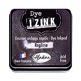 Aladine Izink Dye - Tinta de Secado rápido para Sellos y Plantillas, Color Negro