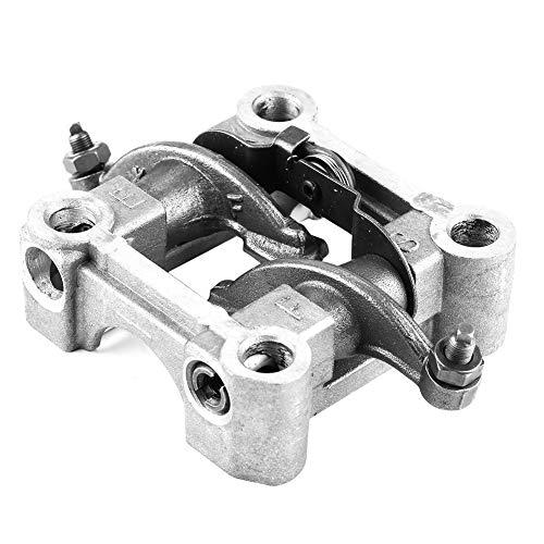 Gorgeri Soporte de eje de levas de balancines, soporte de hierro + soporte de aluminio Conjunto de balancines para motor GY6 125cc 150cc 152QMI 157QMJ