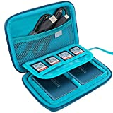 Samsung T5 Case, Lacdo 2-in-1 Hard Travel Case for Samsung T5 T3 Portable SSD 250GB 500GB 1TB 2TB USB 3.1 Type C External Solid State Drives EVA Shockproof Storage Carrying Protective Bag, Blue