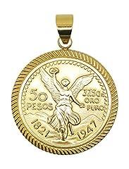 14kt Gold Filled Centenario Pendant Dije De Centenario Oro Laminado Brasileno