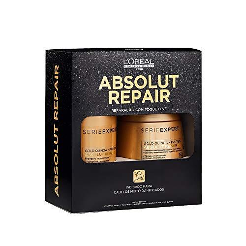 Kit L'Oréal Professionnel Absolut Repair Gold Quinoa + Protein Treatment (Shampoo e Máscara)