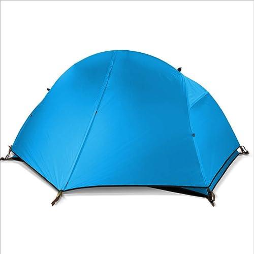 MUTANG Pêche à la lumière Unique Ultra-légère randonnée tentes extérieures, Doubles tentes de Camping MultiCouleures Anti-Pluie, y Compris Un Sac, Tapis de Sol spéciaux.