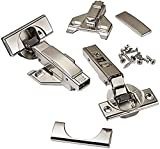 """Blum CLIP top BLUMOTION Soft Close Hinges, 110 degree, Self Closing, FACEFRAME with Mounting Plates, and hinge cover plates (1/2 to 3/4"""" Overlay - Premium - 8 Pack)"""