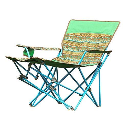 AOIWE Sillas Plegables Silla de Camping Camping con el sostenedor Taza Plegable Portable de la Pesca de múltiples Funciones del sillón reclinable Beach