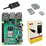 Includes Raspberry Pi 4 Model B with 1.5GHz 64-bit quad-core CPU (2GB RAM) CanaKit 3.5A USB-C Power Supply with Noise Filter (UL Listed) specially designed for the Raspberry Pi 4 (5-foot cable) CanaKit USB-C PiSwitch (On/Off Power Switch) Set of 3 Al...