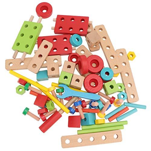 TOYANDONA 1 Juego de Juguetes de Madera Tuerca Vástago de Tornillo Educativo Montessori Construcción de Edificios Actividades de Combinación de Tornillos Desarrollo de Habilidades