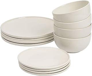 ProCook Stockholm - Service de Table en Grès - Set 12 Pièces/Pour 4 Personnes - Style Scandinave - Petite Assiette, Grande...