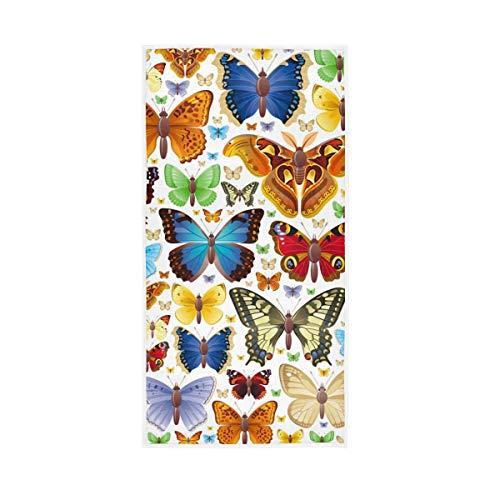 Für Bad Home Hotel Gym Spa Dekorative Gast Mehrzweck Bunte Insekt Schmetterling Badetücher Hand 30x15 zoll Tasse Weiche Große Hochsaugfähig