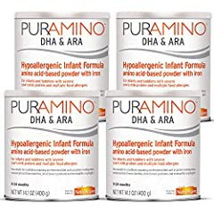 PurAmino is a hypoallergenic, iron fortified, and amino acid based formula for the dietary management of infants and toddlers with severe cow's milk protein & multiple food allergies Also suitable for conditions such as protein maldigestion, malabsor...