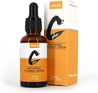 Organic Vitamin C Serum, Facial Serums with Hyaluronic Acid for Women Anti Aging Anti-Wrinkle, Brightens Tone, Tightens Skin & Diminishes Melanin