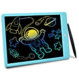 Toy for 3 Year Old Boys Girls FLUESTON LCD Writing Tablet 10 Inch Doodle Magic Board, Colorful Drawing Tablet for Kids, Portable Travel Birthday Gifts Toys Draw Pad for 4 5 6 7 Year Old Toddlers
