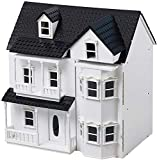 HILIROOM HILIROOM Children's Wooden Dolls House Cottage Victorian Dollhouse with Stairs Kids Toy