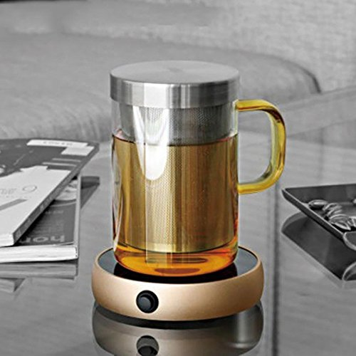 Coffee Warmer silicone Electronic Teapot Warmer Blooming Coffee Selling Cup Warmer Heater 220V Home Kitchen Office Random Color