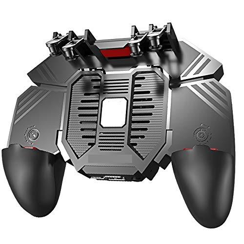 Lihgfw Mobile regulador del juego con el ventilador for PUBG (6 dedo Operación) L1R1 L2R2 Gaming Grip Gamepad Controller móvil de disparo for 4/7 a 6/5