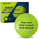 Taylor Made Tour Response Yellow Personalized Golf Balls