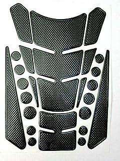 Tankpad Tankschutz Motorrad Carbon Optik mehrteilig universal Schwarz