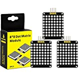 KEYESTUDIO 3PCS I2C 8x8 LED Display Matrix for Arduino Raspberry Pi Micro:bit, HT16K33 Matrix Text Image Display Module Kit I2C Interface