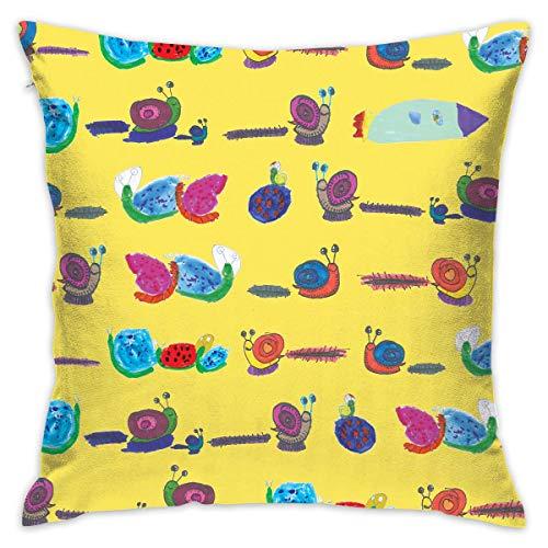 ZCHW Prydnadskudde överdrag sniglar målning säng soffa kuddfodral sovkudde mjukt kuddöverdrag 45 x 45 cm