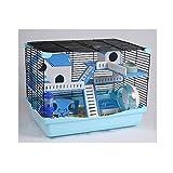 PETAMANIM Hamster Cage Hamster Chalet avec échelle de Tunnel et de Haute qualité Couleur Maison spéciale est expédié au Hasard,Bleu