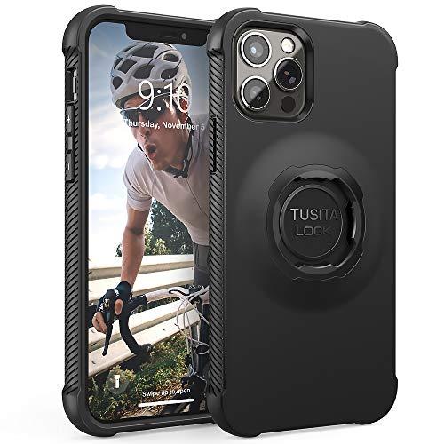 TUSITA Custodia Disegnato per Apple iPhone 12/12 Pro - Bici Supporto Cover protettiva per Cellulare - Accessori per Smartphone